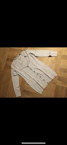 edc by Esprit Chaqueta estilo camisa crema-gris claro