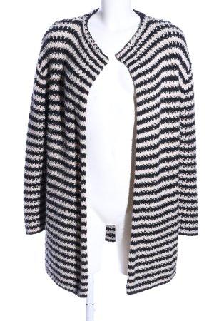 Esprit Strickjacke weiß-schwarz Allover-Druck Casual-Look