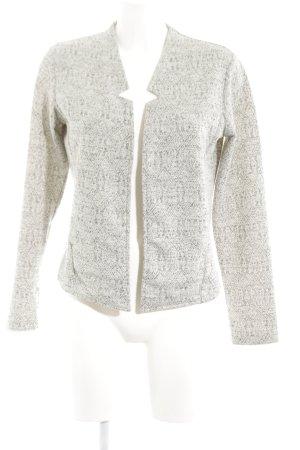 Esprit Strickjacke weiß-hellgrau grafisches Muster klassischer Stil