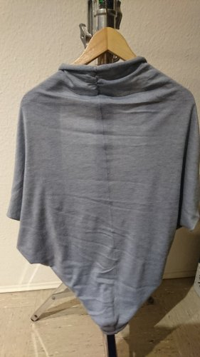 Esprit Urban Casual Short Sleeve Knitted Jacket azure cotton