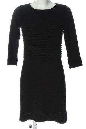 Esprit Strickkleid schwarz Streifenmuster Casual-Look