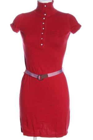 Esprit Vestido tejido rojo look casual