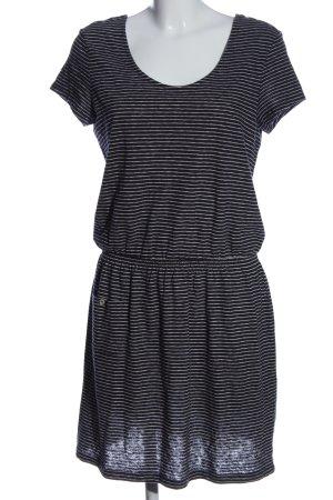 Esprit Strickkleid schwarz-weiß Streifenmuster Casual-Look