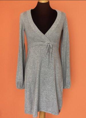 Esprit Robe en maille tricotées gris-gris clair coton