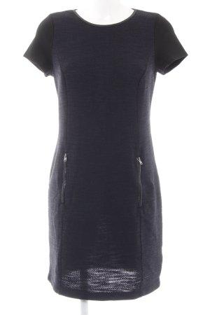 Esprit Strickkleid schwarz-dunkelblau Casual-Look