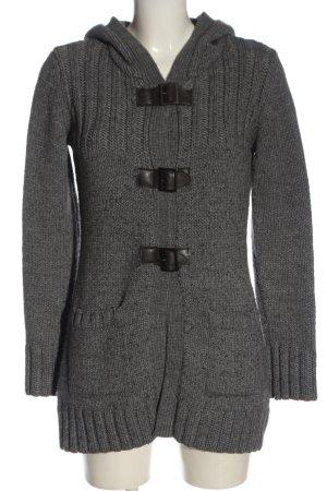 Esprit Cappotto a maglia grigio chiaro stile casual