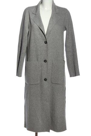 Esprit Abrigo de punto gris claro look casual