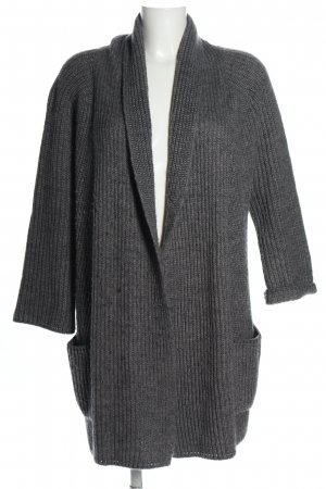 Esprit Abrigo de punto gris claro moteado look casual