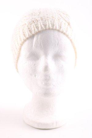 Esprit Czapka z dzianiny w kolorze białej wełny Warkoczowy wzór