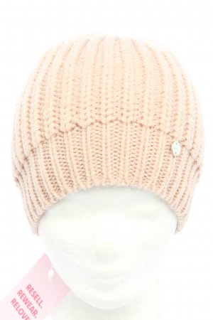 Esprit Knitted Hat nude cable stitch casual look