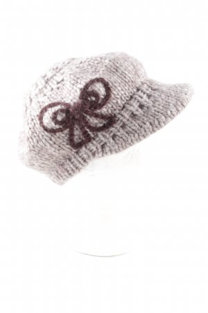 Esprit Knitted Hat brown-light grey cable stitch casual look