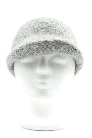 Esprit Sombrero de punto gris claro moteado look casual
