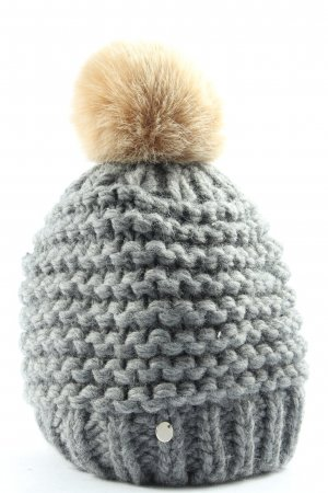 Esprit Knitted Hat light grey-cream casual look