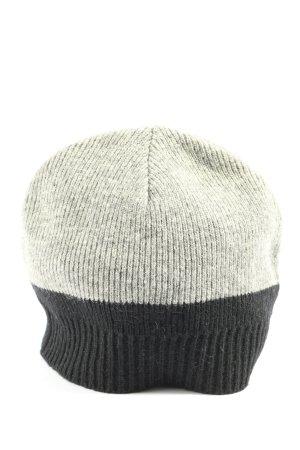 Esprit Sombrero de punto gris claro-negro look casual
