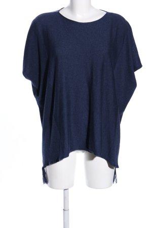 Esprit Poncho en tricot bleu style décontracté