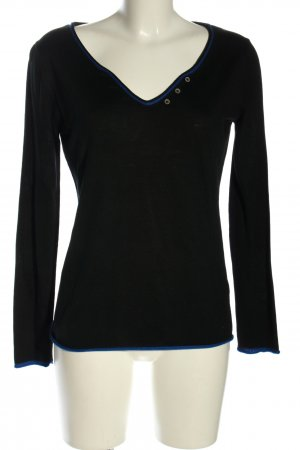 Esprit Strickpullover schwarz-blau Casual-Look
