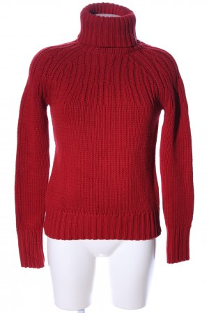 Esprit Strickpullover rot Zopfmuster Casual-Look
