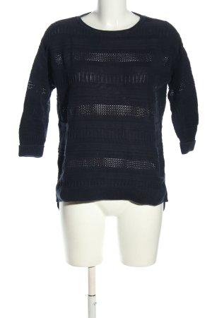 Esprit Strickpullover blau Zopfmuster Casual-Look