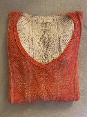 Esprit Warkoczowy sweter jasnoczerwony-łosowiowy