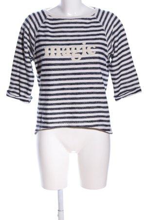 Esprit Strickpullover schwarz-weiß Schriftzug gedruckt Casual-Look