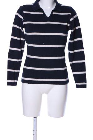 Esprit Strickpullover schwarz-weiß Streifenmuster Casual-Look