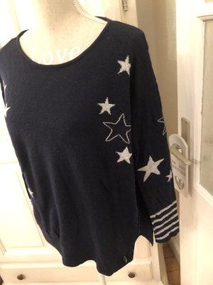 Esprit Strickpullover mit Sternen blau