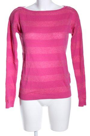 Esprit Strickpullover pink Streifenmuster Casual-Look