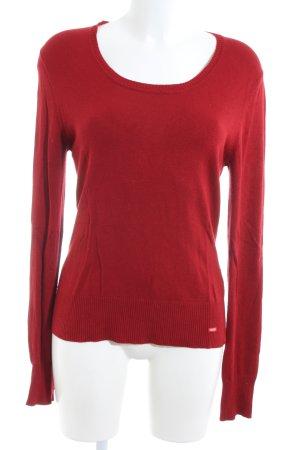 Esprit Maglione lavorato a maglia rosso stile casual