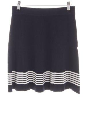 Esprit Jupe tricotée noir-blanc motif rayé style d'affaires