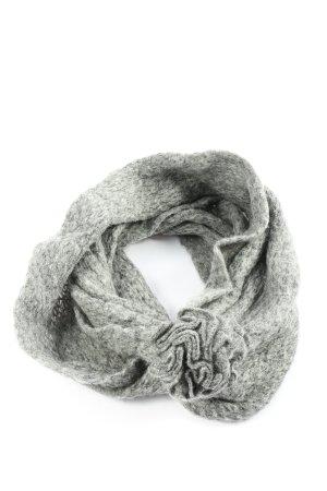 Esprit Écharpe en tricot gris clair moucheté style décontracté