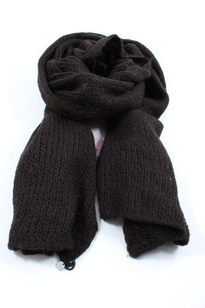 Esprit Gebreide sjaal zwart-lichtgrijs kabel steek elegant