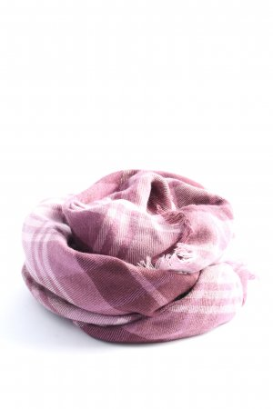 Esprit Écharpe en tricot rose-blanc motif à carreaux style décontracté