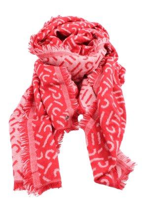 Esprit Strickschal rot abstraktes Muster Casual-Look