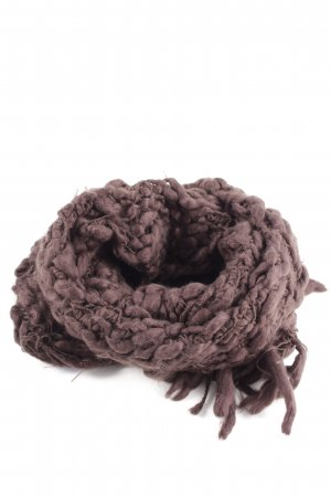 Esprit Knitted Scarf brown cable stitch street-fashion look