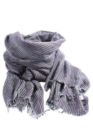 Esprit Bufanda de punto negro-gris claro estampado a rayas look casual