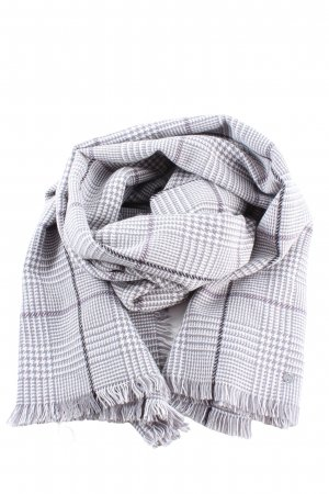 Esprit Écharpe en tricot gris clair-blanc style décontracté