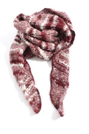 Esprit Écharpe en tricot rouge-blanc motif rayé style décontracté