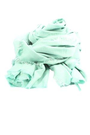 Esprit Écharpe en tricot turquoise style décontracté