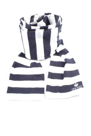 Esprit Bufanda de punto azul-blanco estampado a rayas look casual