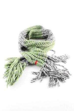 Esprit Gebreide sjaal groen-lichtgrijs kabel steek casual uitstraling