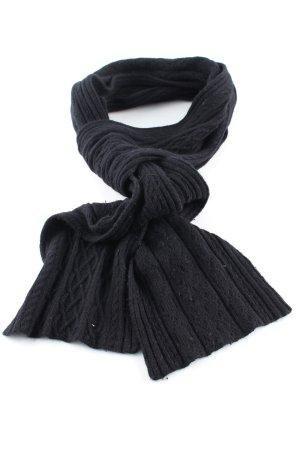 Esprit Écharpe en tricot noir torsades style décontracté