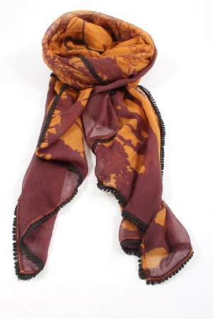 Esprit Knitted Scarf red-light orange abstract pattern casual look