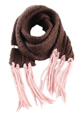 Esprit Écharpe en tricot brun-rose torsades style décontracté