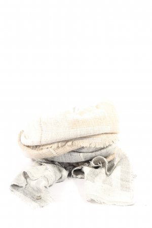 Esprit Écharpe en tricot blanc cassé-argenté motif à carreaux