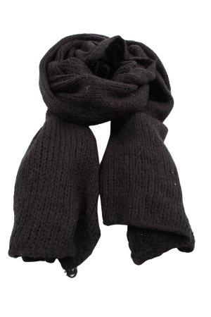 Esprit Bufanda de punto negro-gris claro punto trenzado elegante