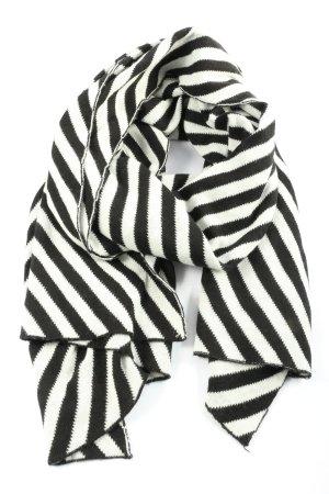 Esprit Strickschal schwarz-weiß Streifenmuster Casual-Look
