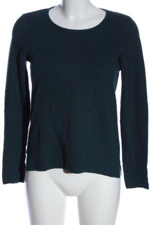 Esprit Gebreid shirt blauw gestreept patroon casual uitstraling