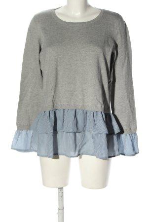 Esprit Sweatshirt hellgrau-blau meliert Casual-Look