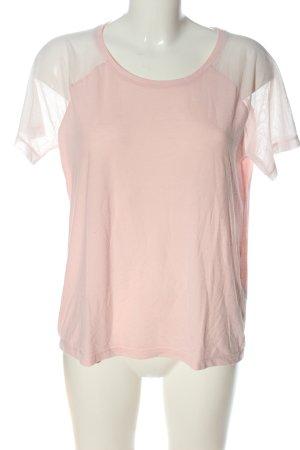 Esprit Strickshirt pink-weiß Casual-Look