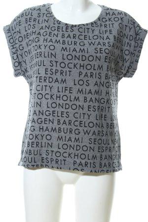 Esprit Gebreid shirt lichtgrijs volledige print casual uitstraling